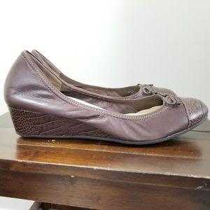 Cole Haan Ballet Flat Slip On Shoes Wedge Heels